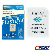 Toshiba FlashAir 16GB Wireless LAN model SDHC Class 10 Original Produk