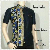 kemeja koko batik prada emas hitam | BATIK PEKALONGAN