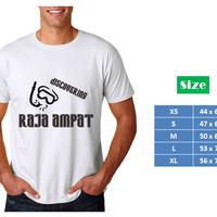 Kaos Distro Premium Wisata Raja Ampat - snorkel - putih