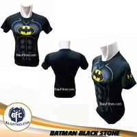 Baju Kaos Costume Superhero DC Comic Dewasa - BATMAN-BLACK-STONE