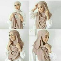 Hijab Pasmina Instan Vanilla / Pastan Cantika / Grosir pastan murah