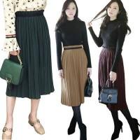 Jual Celine Pleated Skirt(#692)/Rok Midi/Rok kerja Murah
