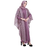 Jual Rossa - Gamis Falerie Tulle Lace Linen Fashionable - Best Seller Murah