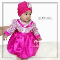 Jual gamis bayi perempuan I baju muslim anak cewek 6 bulan I turban anak Murah