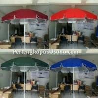 payung tenda BAHAN DOBEL 260cm polos payung pantai cafe bazar pkl