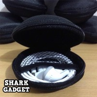 Tas Headset / Casing Earphone / Case Handsfree Oval (Diameter 8 Cm)