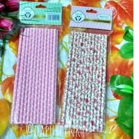 Jual Sedotan Kertas bunga dan pink polkadot Murah
