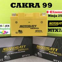 Aki motor Kawasaki Ninja 250 Motobatt MTX7A aki Motor gel Kering MF