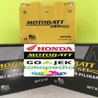 Aki motor Honda Tiger 2000 Motobatt MTX7D aki Motor gel Kering MF