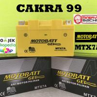 Aki motor Minerva Motobatt MTX7A aki Motor gel Kering Bebas perawatan
