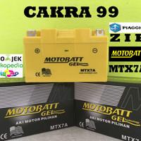 Aki motor Piaggio ZIP Motobatt MTX7A aki Motor gel Kering MF