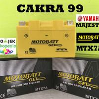 Aki motor Yamaha Majesty Motobatt MTX7A aki Motor gel Kering MF
