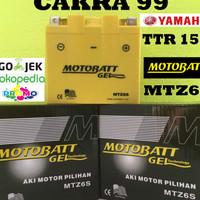 Aki motor Yamaha TTR 150 Motobatt MTZ6S aki gel Kering Bebas rawat MF
