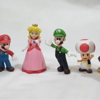 Action Figure Super Mario Bross 1set 6pcs