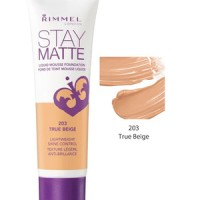 RIMMEL STAY MATTE LIQUID MOUSE FOUNDATION TRUE BEIGE