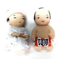 Souvenir Pajangan negara Jepang prajurit sepasang