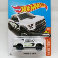 Hotwheels 17 Ford F-150 Raptor - putih