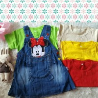 Overall jeans baby rok minnie mouse / anak perempuan