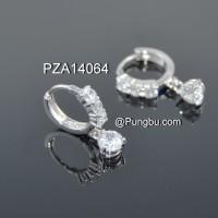 Anting bandul bulat putih PZA14064
