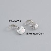 Anting putih motif Hello Kitty PZA14053