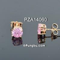 Anting emas mata pink PZA14060