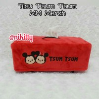 Tempat Tissue / Tisu / BoX Tisu KoTaK Tsum - Tsum MeraH