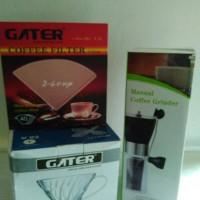 Paket Manual Brewing - Manual Grinder, Dripper V60-02, Filter V60-02