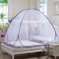 Jual Kelambu lipat korea 200x200 bed net anti nyamuk canopy portable Tidur Murah