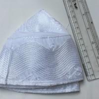 Peci Bukhari Kopiah Madinah Putih oleh oleh haji bordir motif