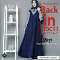 Gamis Maxi Dress Long Tunik Hijab Blouse Busana Muslimah Modern Maxi
