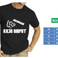 Kaos Distro Premium Wisata Raja Ampat - snorkel - hitam