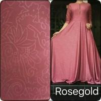 Harga gamis jersey emboss rose gold real pict | Pembandingharga.com