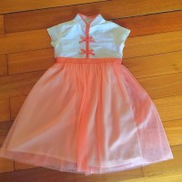ORIGINAL SISSAE MANDARIN PEACH QIPAO DRESS
