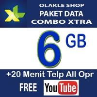 Kartu Perdana Paket Data Internet XL Combo Xtra 6GB 6 GB