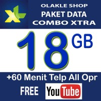 Kartu Perdana Paket Data Internet XL Combo Xtra 18GB 18 GB