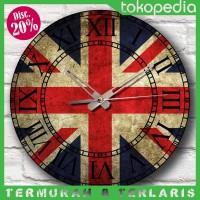 Jual Jam Dinding Vintage Number London - Inggris Wall Clock - Kool Katz Murah
