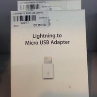 (Original) Lightning to Micro USB Adaptor MD820 - Garansi Apple