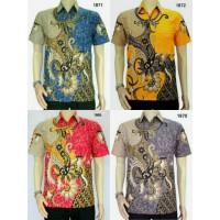 Jual Kemeja Baju Batik Khas Pekalongan 1870 || Batik Casual Modern Murah