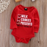 Romper Baju Bayi Natal Christmas Santa Check List