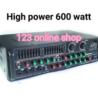 Amplifier power mixer 4 channel marcopolo mc 158 baru 600 watt