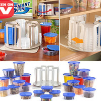 Smart Spin And Store Wadah Penyimpanan 49in1 Toples Unik N Rak Storage