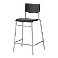 1IKEA STIG Kursi bar 74cm hitam dengan sandaran
