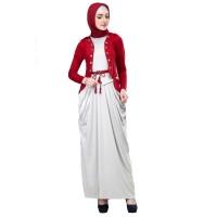 287SOP, gamis/baju/dress casual/resmi/pengajian muslimah wanita/cewek