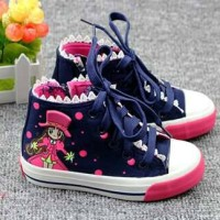 SNEAKERS ZHIZHU LACE GIRL NAVY IMPORT
