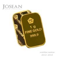 logam mulia emas antam 1 gram sertifikat fine gold 999