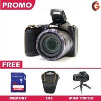 Nikon L340 + Memory + Tas Kamera