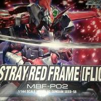 HG Gundam Astray Red Frame (Flight Unit) + HG Gundam Barbatos freecard