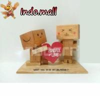 Jual Boneka Kayu Danbo Nembak Cewek Kado Valentine Romantis Couple Unik Murah