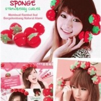 Jual Magic Strawberry Roll Sponge Hair Curler (1 Pack = 6 Pc Berkualitas Murah