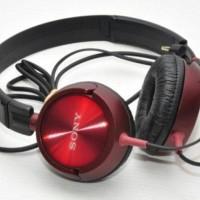 Headset / Headphones Sony Monitoring MDR-ZX300 AP - Red/Merah
